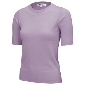 Lilac Short Sleeved Sweater